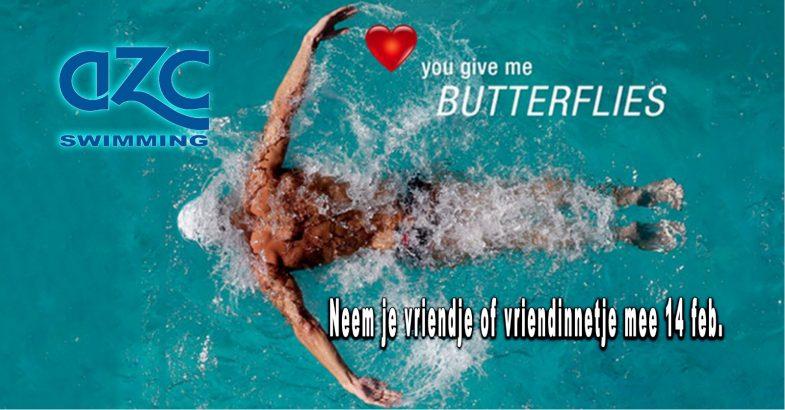 Zwemmen op Valentijsdag !!!